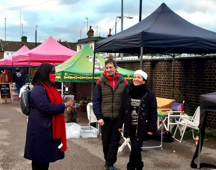 Visit to Abbey Wood Market on Small Business Saturday