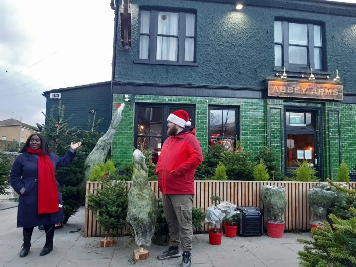 Tree Wise Men Small Business Saturday visit
