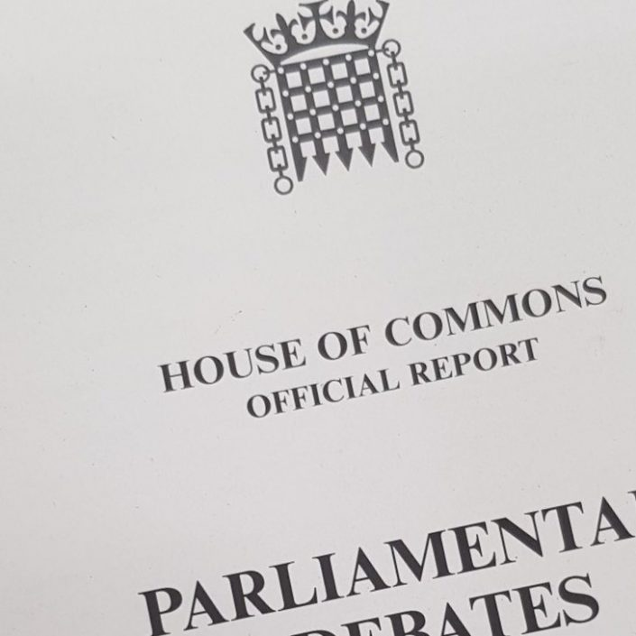 Photo of the cover of Hansard