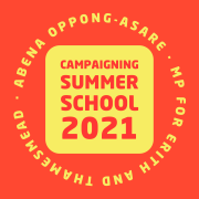 Logo for Abena Oppong-Asare's Campaigning Summer School 2021